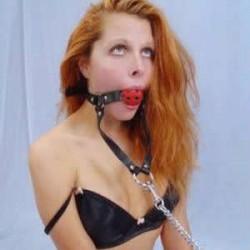 Ball Gag with Long Metal Chain Leash