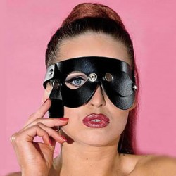 Blindfold With Blinders / Leather Mask Fancy Party Dress Eyes Detachable