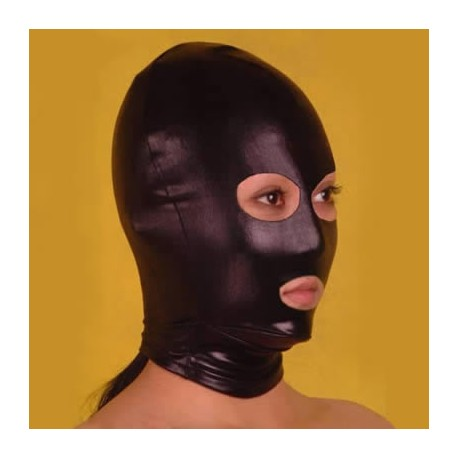 Black Spandex Hood Showing Mouth and Eyes