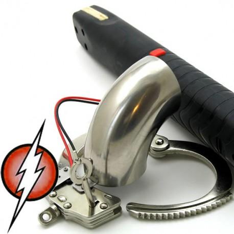 Cage de chasteté électrifié tube stainless (intensité forte)