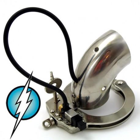 Cage de chasteté électrifié tube stainless grandeur normal (intensité moyenne)