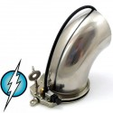 Chastity electrified tube style stainless steel wide size (medium intensity)