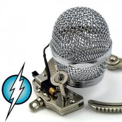 Cage de chasteté électrifié model grillage  acier inoxidable grandeur moyenne (intensité moyenne)