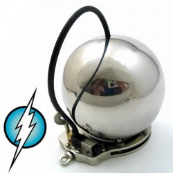 Cage de chasteté électrifié model boule stainless grandeur moyenne (intensité moyenne)