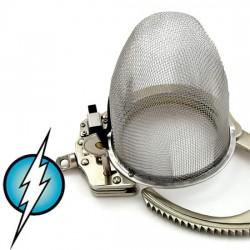 Cage de chasteté électrifié model grillage stainless grandeur moyenne (intensité moyenne)