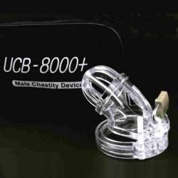 Cage de chasteté claire avec sonde urétale