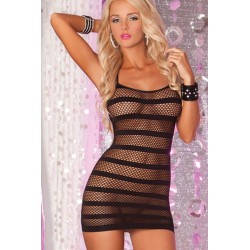 Nightie black striped