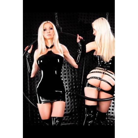 Dress in black vinyl