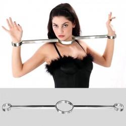 Restriction de luxe(Modèle T) cou et poignets unisexe en acier inoxydable lourd  avec vis Allen Clé Allen