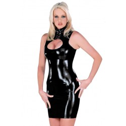Black dress wetlook style