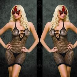 sexy black dress net