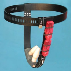 Chastity Belt Leather (a 2 vibrators)