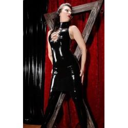 Black wetlook dress style