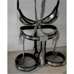 Chastity belt for men feature fully adjustable stainless steel Model T.