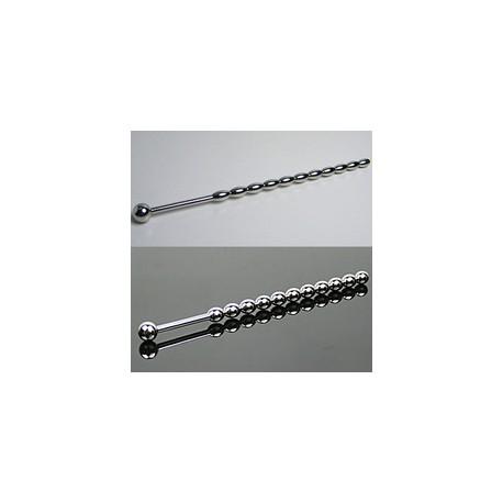 Urethral probe 145 mm corrugated stainless steel (11 balls)