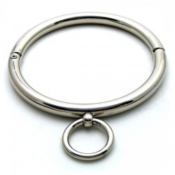 Rolled Stainless Steel Slave Collars / Chrome Slave Neck Ring / Public Collar w/ Normal Screwdriver